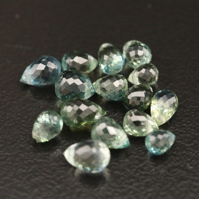 Loose 5.47 CTW Briolette Sapphires