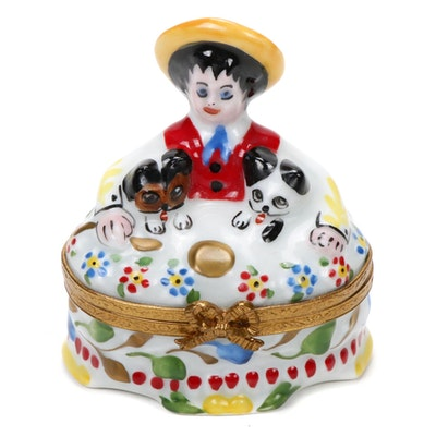 "Hand-Painted Porcelain ""Madeline"" Limoges Box"