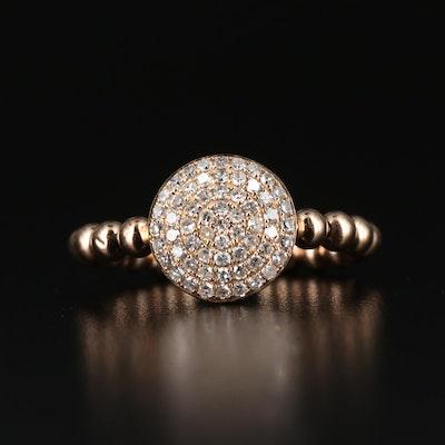 14K Diamond Cluster Open Shank Ring