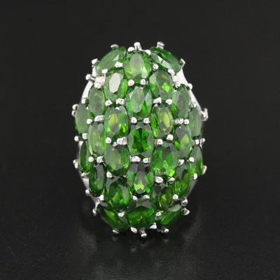 Sterling Silver Diopside Ring