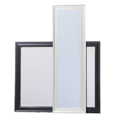 Black and White Framed Rectangular Wall Mirrors