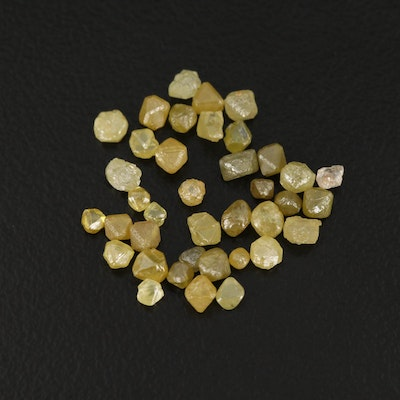 Loose 4.22 CTW Rough Cut Diamonds