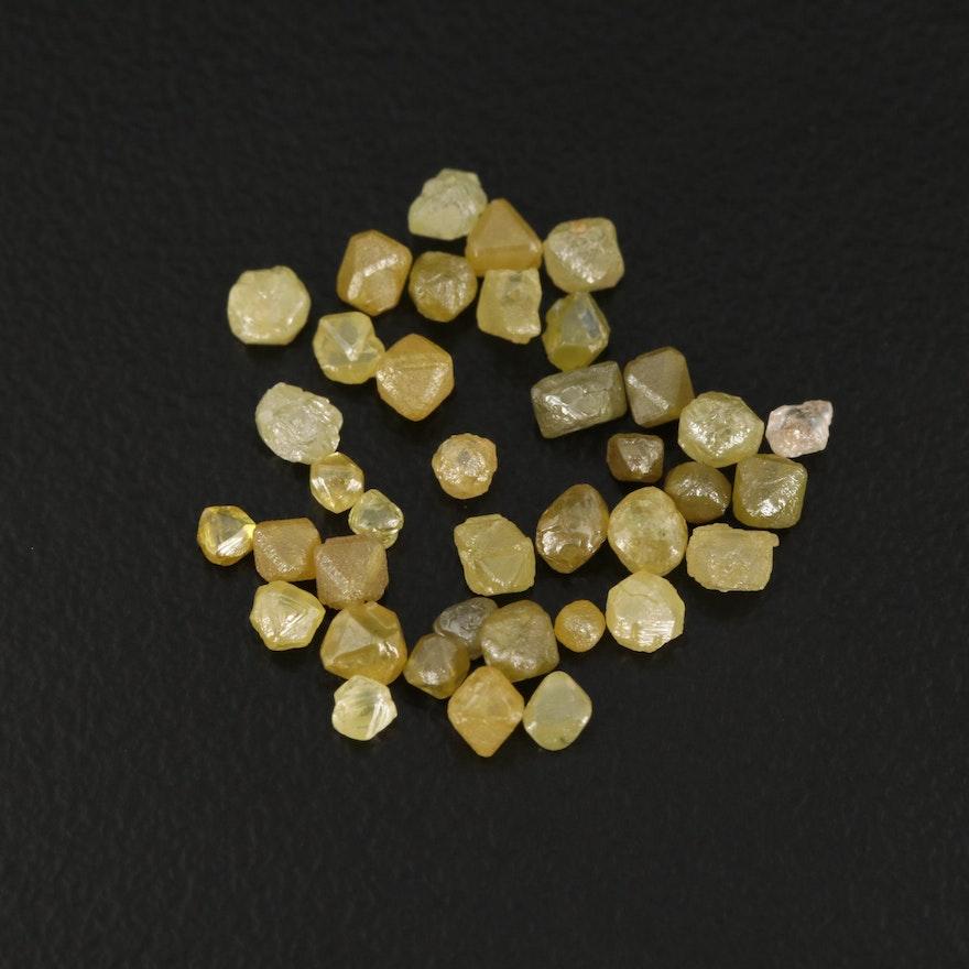 Loose 4.22 CTW Rough Cut Diamonds