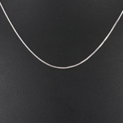 14K Foxtail Chain Necklace