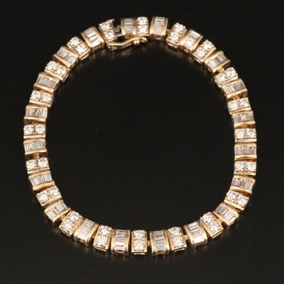 14K 4.40 CTW Diamond Link Bracelet