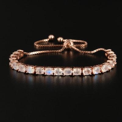 Sterling Silver Rainbow Moonstone Bracelet