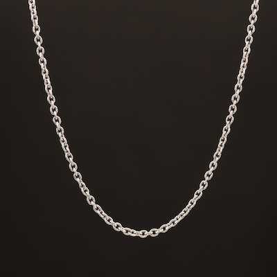 Platinum Cable Chain Necklace