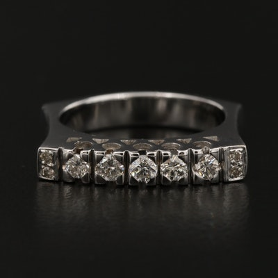18K Diamond Band with Euro Shank