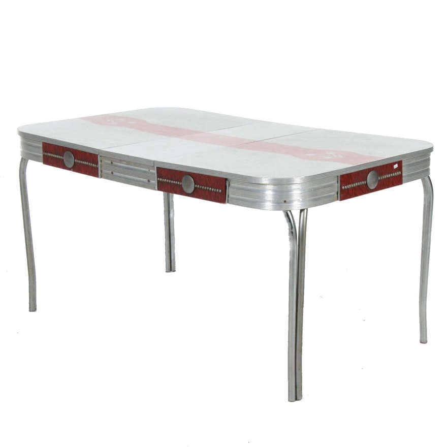 Chrome and Laminate Dinette Table, Mid-20th Century