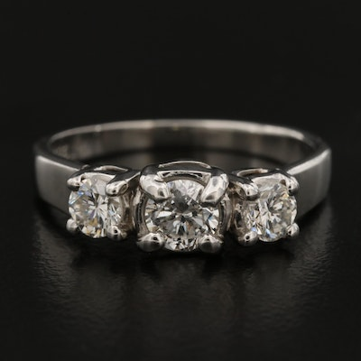 Platinum 0.79 CTW Diamond Ring