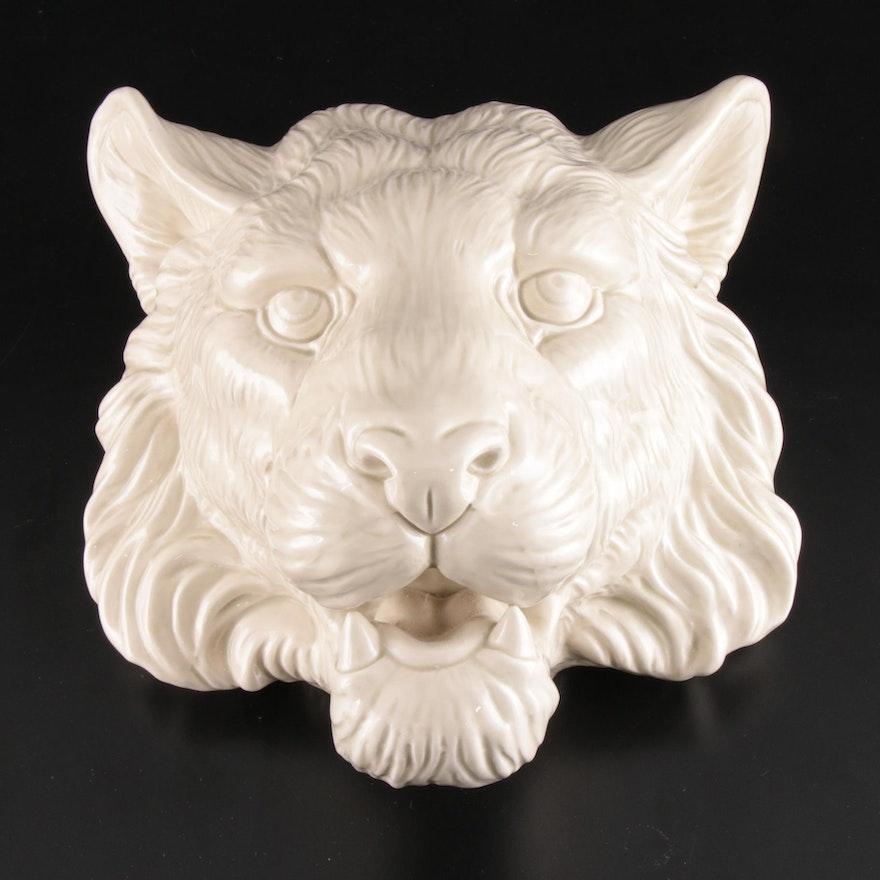Fitz & Floyd Tiger Form Ceramic Wall Pocket Vase