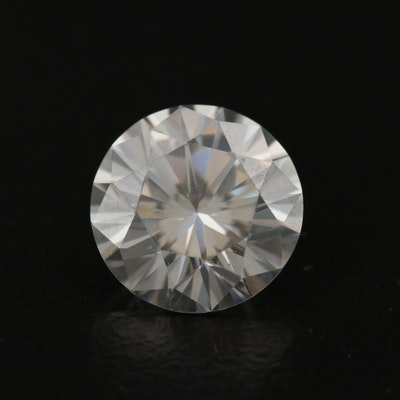 Loose 2.49 CT Round Faceted Moissanite