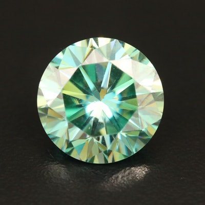 Loose 7.36 CT Round Faceted Moissanite