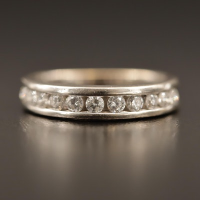 18K Diamond Channel Band