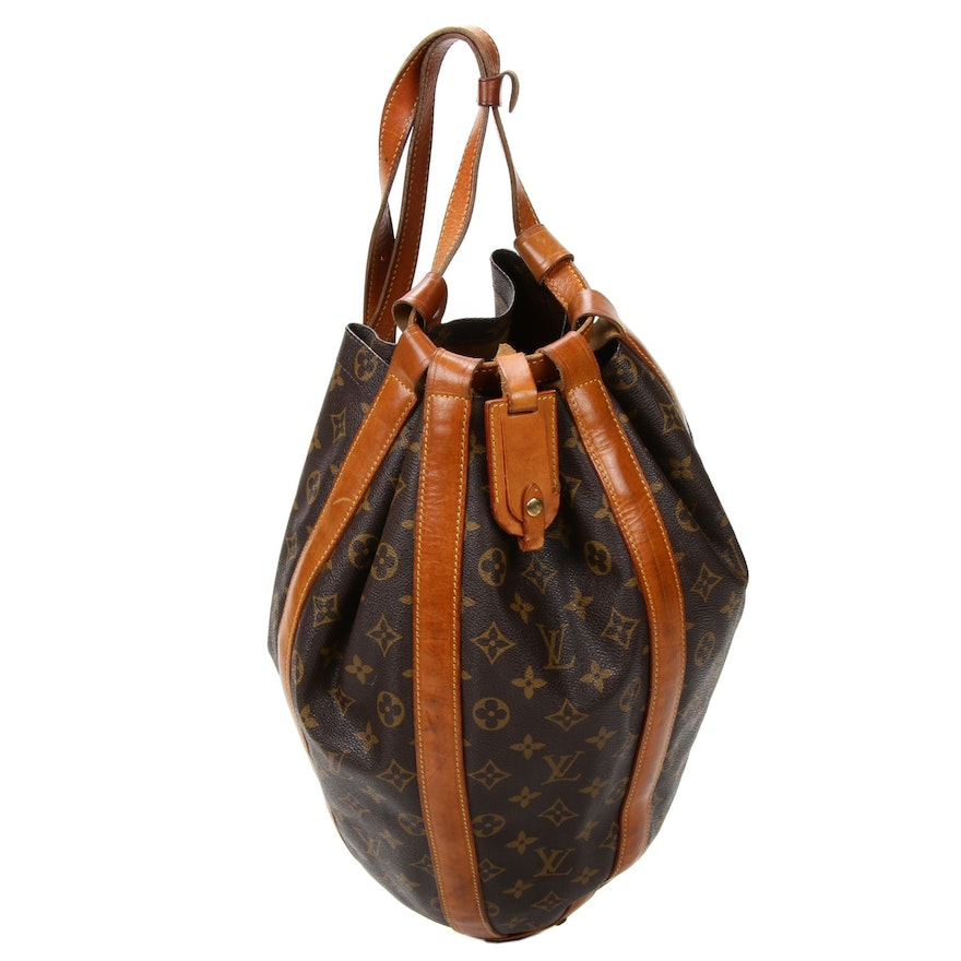 Louis Vuitton Monogram Canvas and Vachetta Leather Backpack