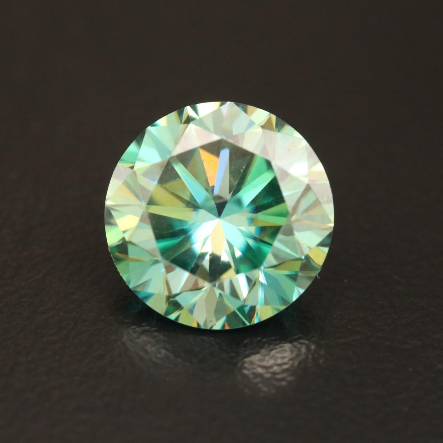 Loose 4.85 CT Moissanite Round Faceted