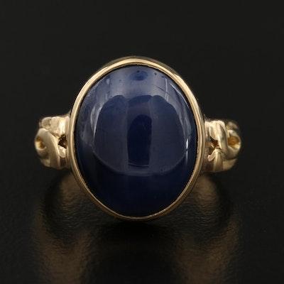 18K Star Sapphire Ring