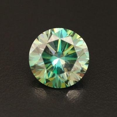 Loose 5.55 CT Round Faceted Moissanite