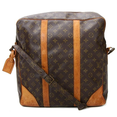 Louis Vuitton Grand Marceau Coated Canvas and Vachetta Leather Messenger Bag