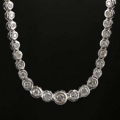 14K White Gold 3.96 CTW Diamond Necklace