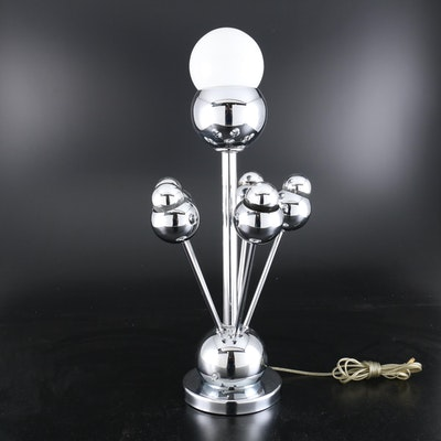 Retro Style Chrome Table Lamp