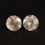 Loose 2.03 CTW Round Brilliant Diamonds