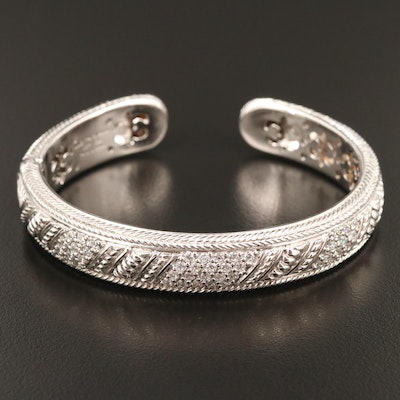 Judith Ripka Sterling Silver and Cubic Zirconia Cuff