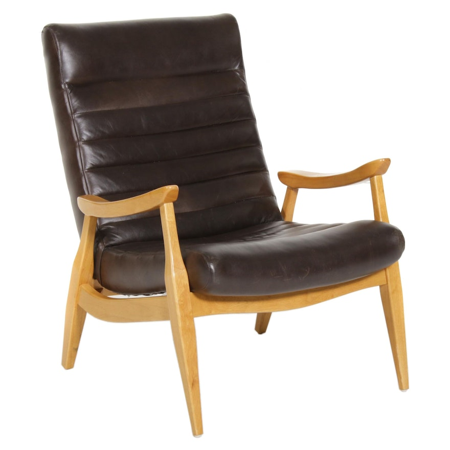 Klaussner Furniture Faux Leather Armchair