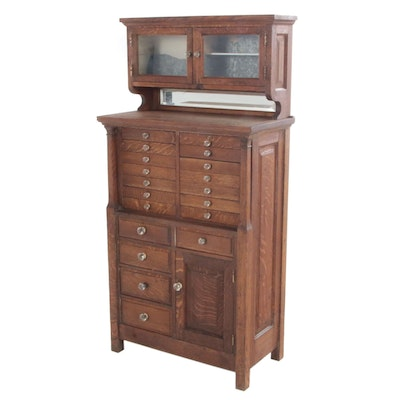 Oak Dental Cabinet, Early 20th Century