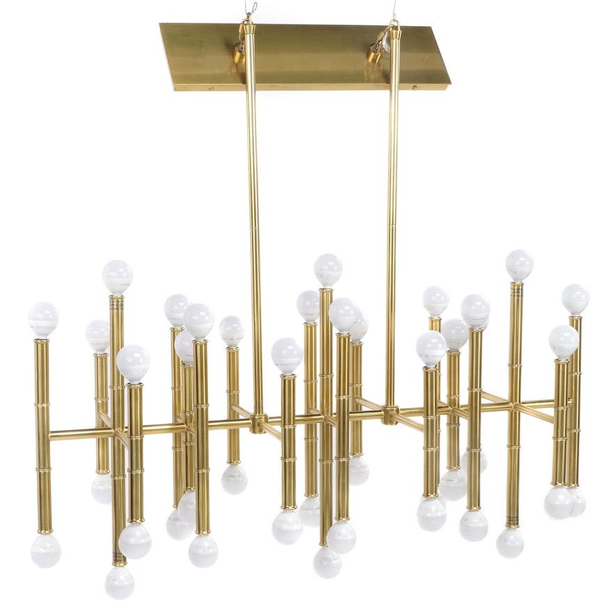 42-Light Brass Chandelier