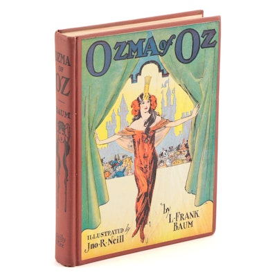 """Ozma of Oz"" Book by L. Frank Baum with J. Neill Illustrations, Copyright 1907"