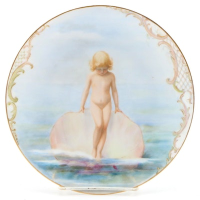 Bawo & Dotter Hand-Painted Porcelain Plate, Late 19th/Early 20th Century