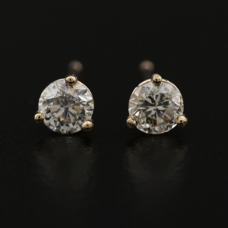 14K 0.46 CTW Diamond Stud Earrings