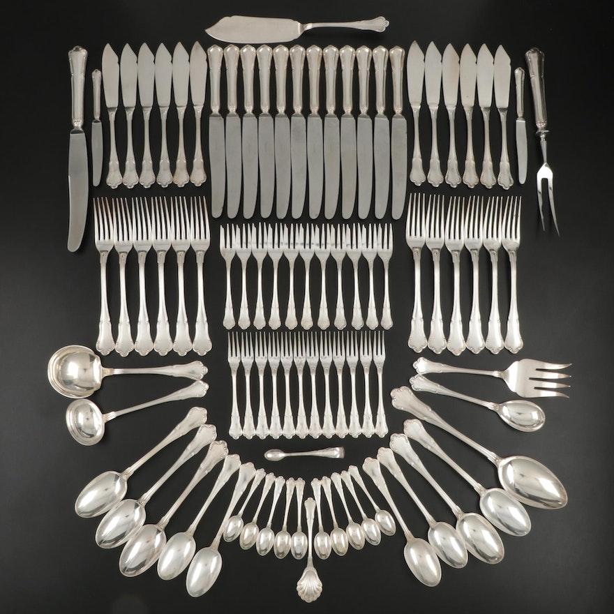 "Koch & Bergfeld ""Barock"" 800 Silver Flatware, Early to Mid 20th Century"