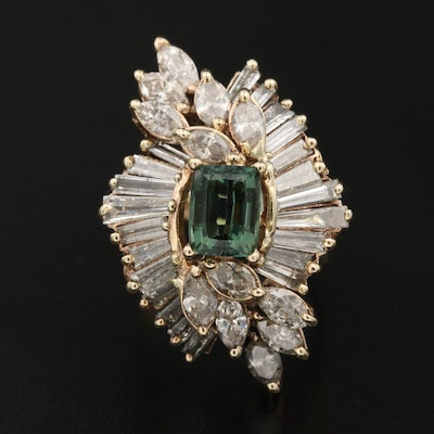 14K Tourmaline and 5.16 CTW Diamond Ring