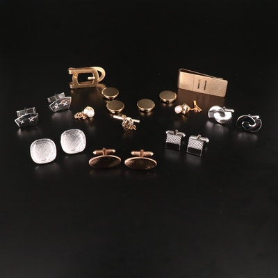 Jewelry Including Cufflinks, Tie Pins, and Money Clips