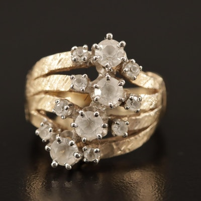 Sterling White Spinel Ring