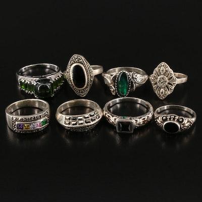Assortment of Sterling Gemstone Rings