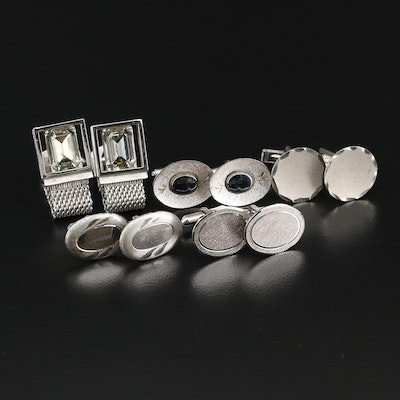 Vintage Cufflinks Including Sterling Silver