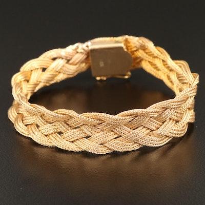 Vintage 14K Woven Bracelet