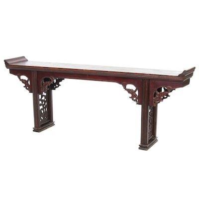 Chinese Carved Hardwood Altar Table, 20th Century