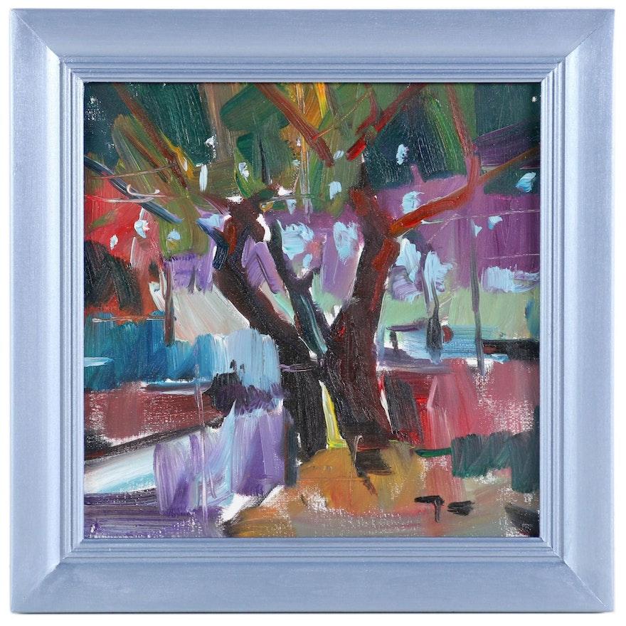 "Jose Trujillo Oil Painting ""The Tree"", 2019"