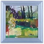 "Jose Trujillo Oil Painting ""Peaceful Woods"", 2019"
