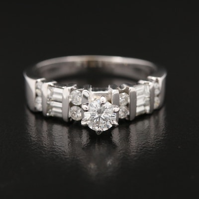 18K Diamond Multi-Row Ring
