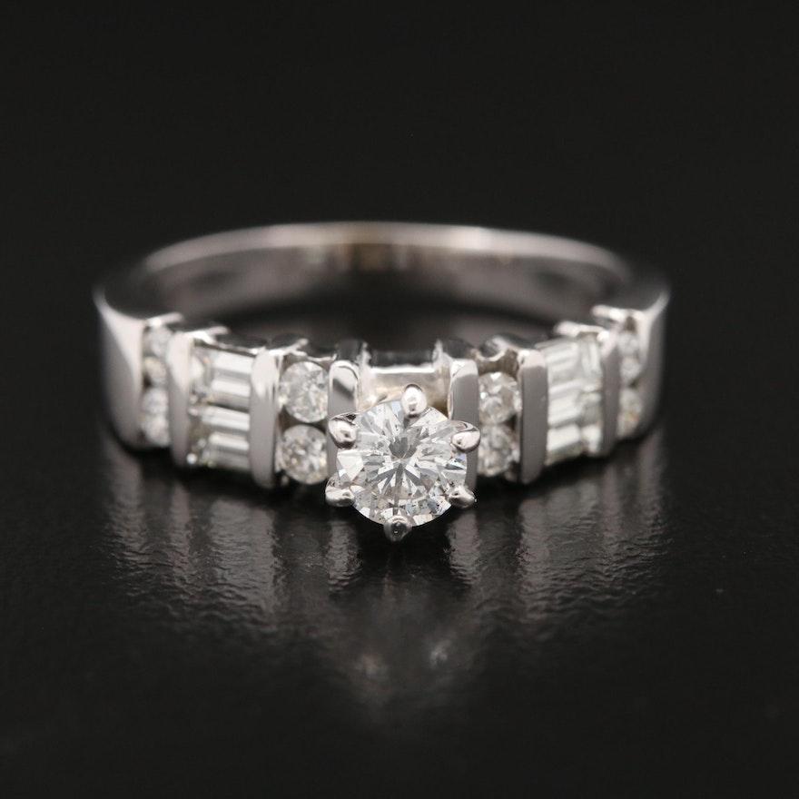 18K Diamond Multi-Row Ring