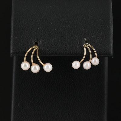 14K Pearl Spray Earrings