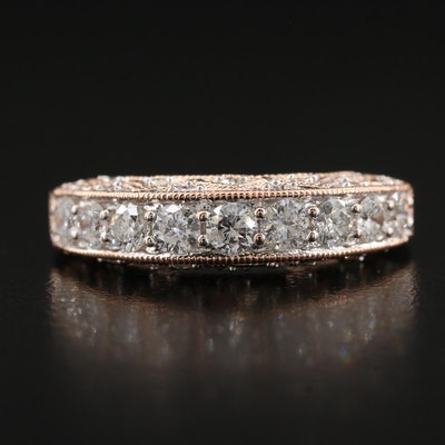 14K Rose Gold 1.03 CTW Diamond Band