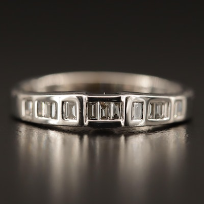 18K Diamond Shadow Band