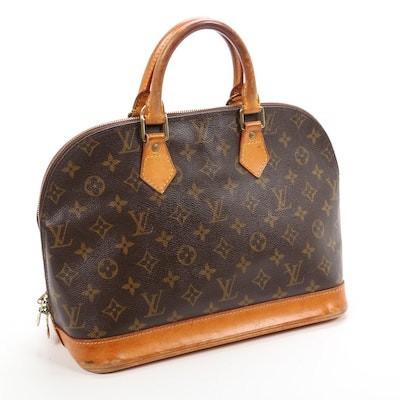 Louis Vuitton Alma PM in Monogram Canvas and Vachetta Leather