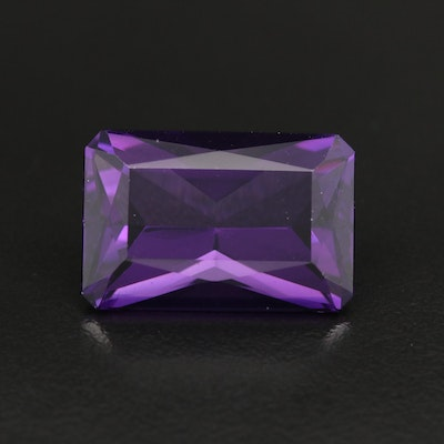 Loose 19.96 CT Cut Corner Rectangular Amethyst